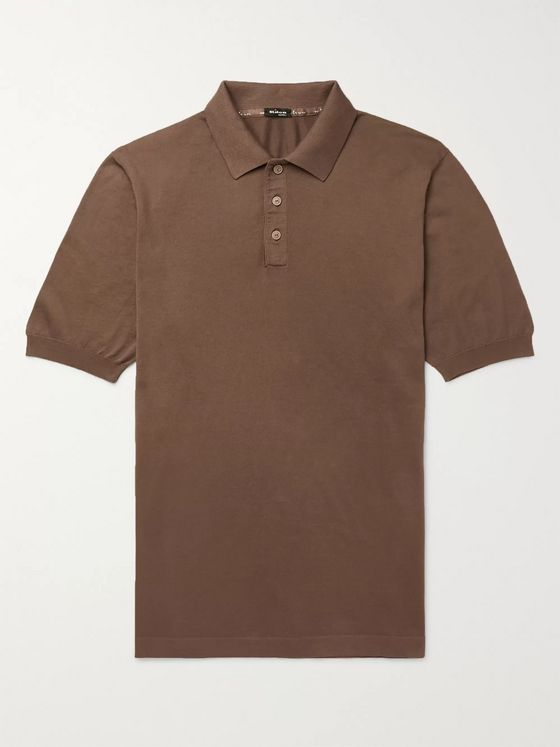 KITON Cotton Polo Shirt