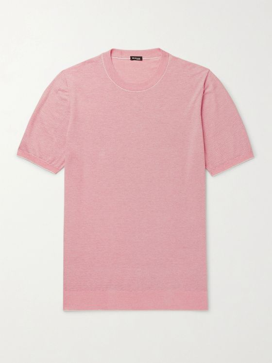 KITON Slim-Fit Striped Cotton T-Shirt