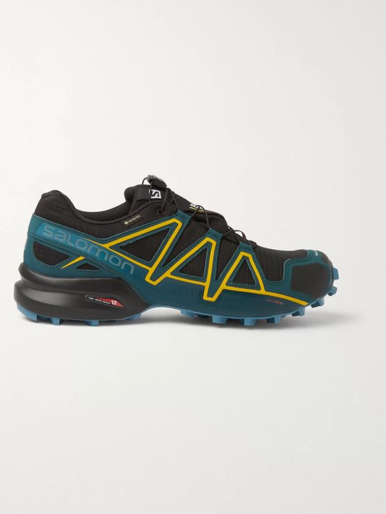 Salomon Speedcross 4 Mesh, Faux Suede, Rubber and GORE-TEX Trail Running Sneakers