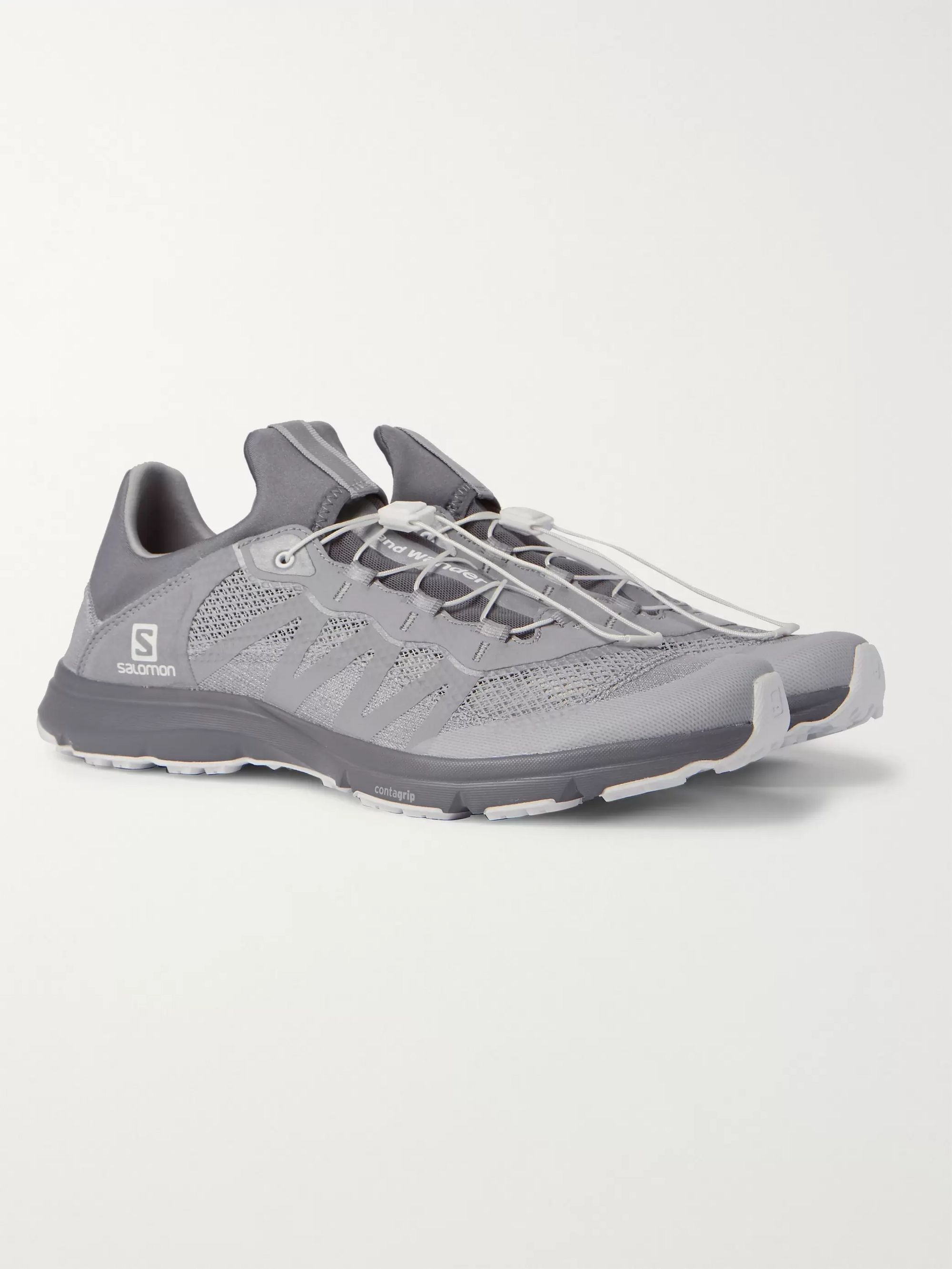 And Wander + Salomon XA AMPHIB BOLD Reflective Mesh and Rubber Sneakers