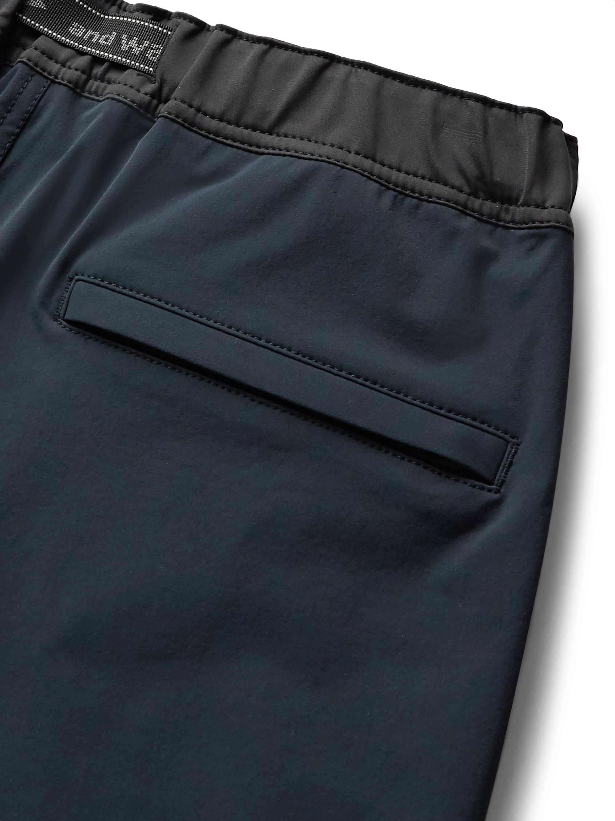 And Wander Trek Belted Jersey-Trimmed ZGRAV Shorts