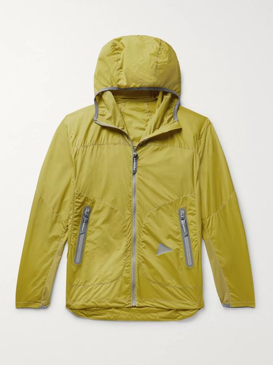 And Wander Weave Windy Ripstop Hooded Jacket
