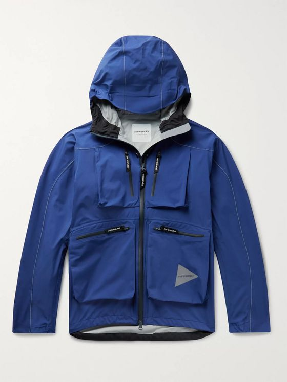 And Wander E-Vent Nylon-Ripstop Hooded Jacket