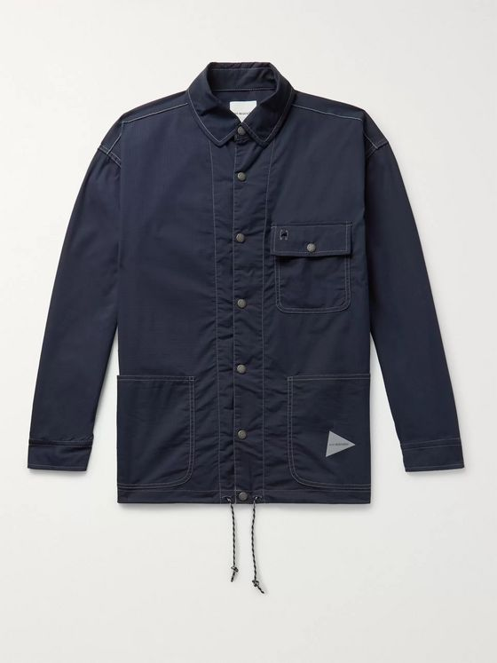 And Wander Cotton-Blend Ripstop Shirt