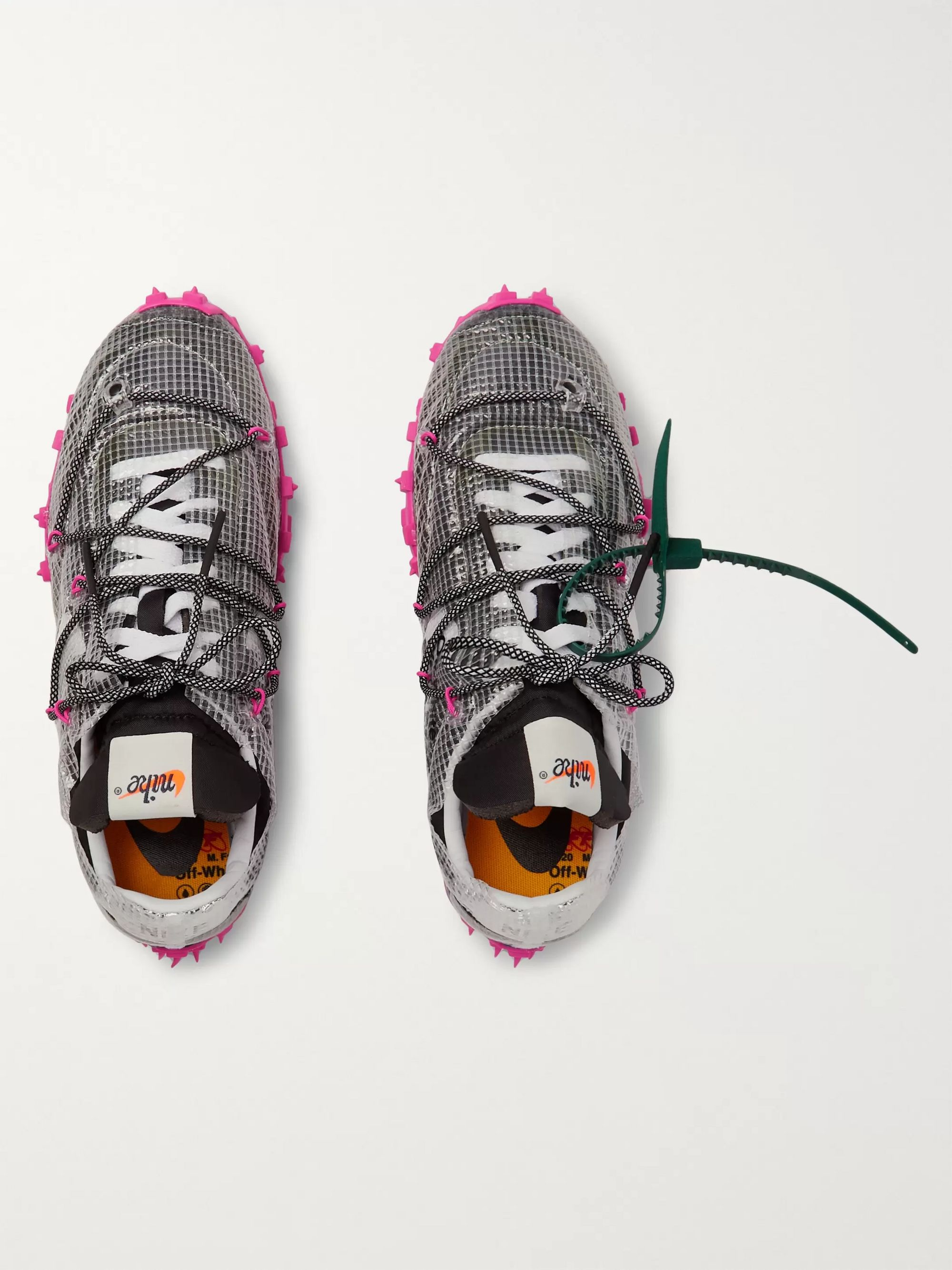 Nike + Off-White Waffle Racer Ripstop, Suede, Nylon and Mesh Sneakers