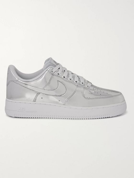 NIKE Air Force 1 SP Metallic Patent-Leather Sneakers