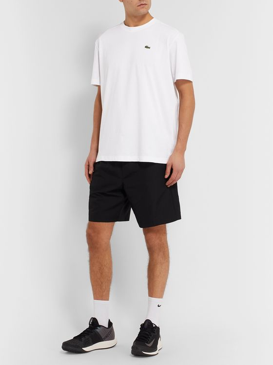 Lacoste Tennis Logo-Appliquéd Cotton-Blend Jersey Tennis T-Shirt