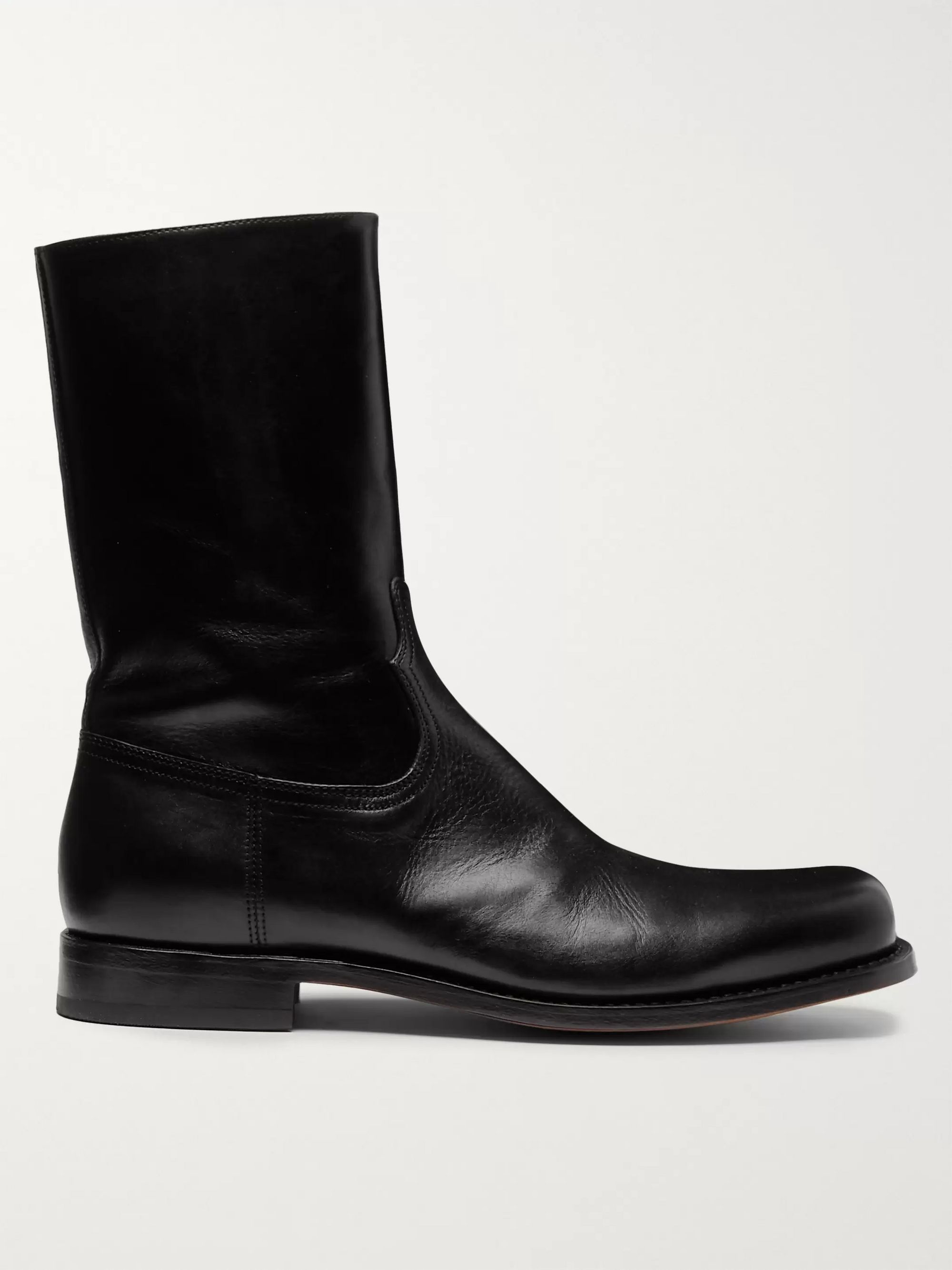 Dries Van Noten Leather Boots