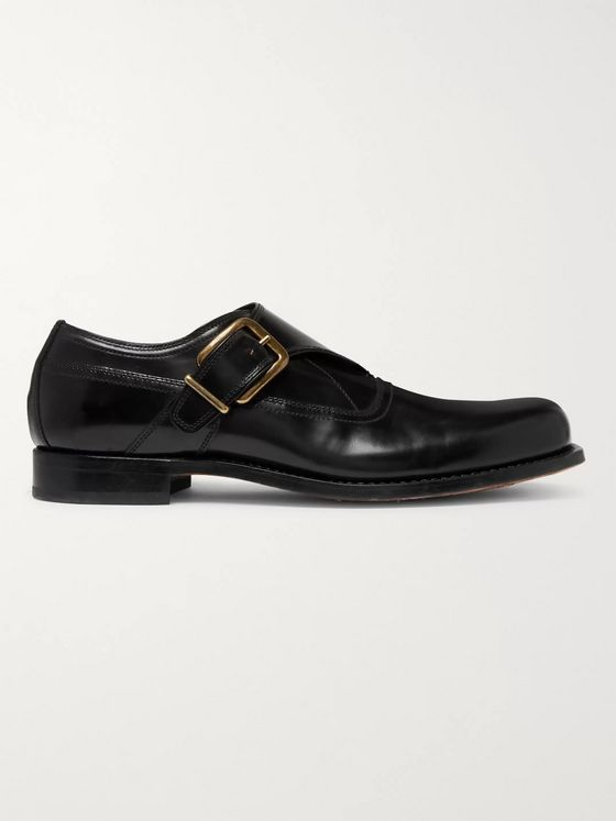 Dries Van Noten Leather Monk-Strap Derby Shoes