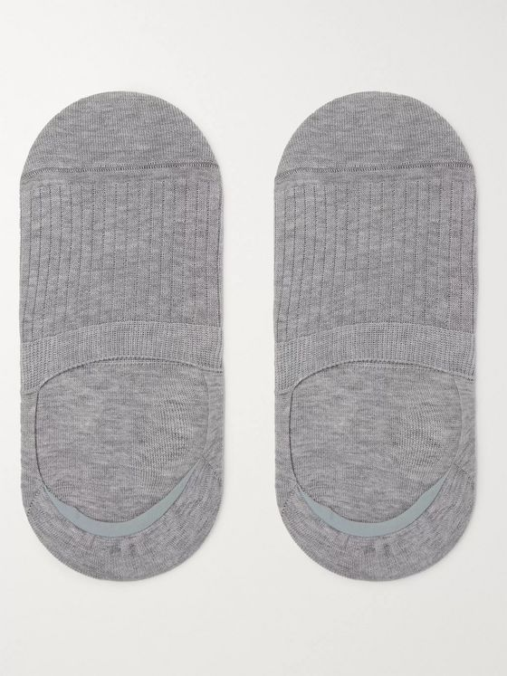 Corgi Ribbed Cotton-Blend No-Show Socks