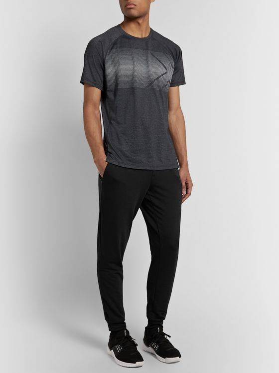 2XU Transit Tapered Logo-Print Stretch-DRI-RELEASE Track Pants