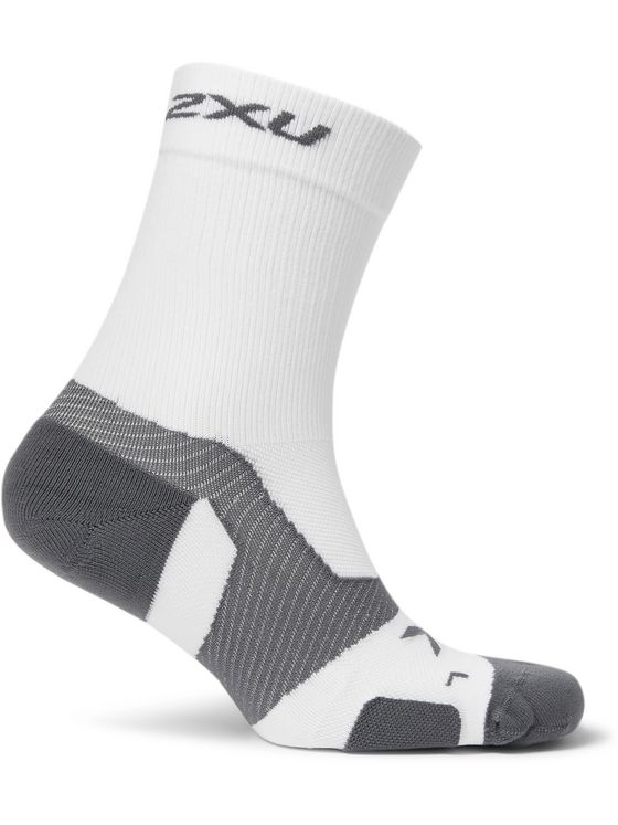 2XU Vectr Cushioned Stretch-Knit Crew Socks