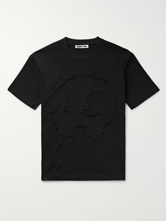 McQ Alexander McQueen Logo-Embroidered Cotton-Jersey T-Shirt