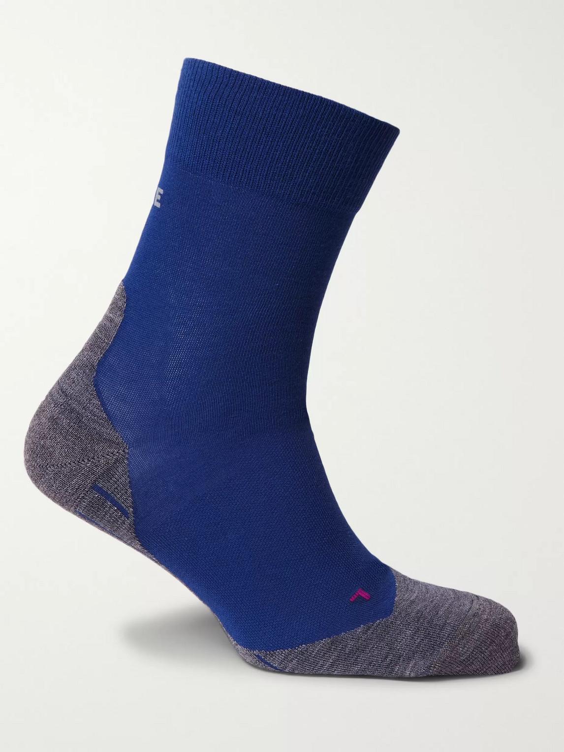 falke ergonomic sport system - ru4 stretch-knit socks - men - blue