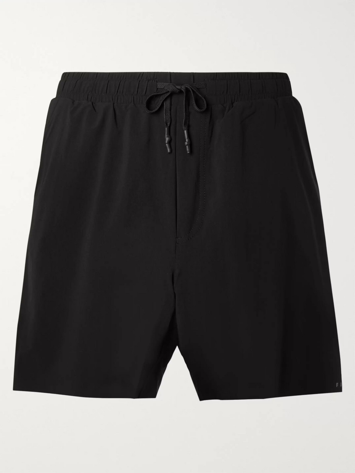 falke ergonomic sport system - challenger slim-fit drawstring stretch-shell shorts - men - black