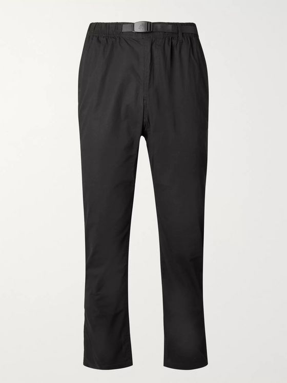 Gramicci Slim-Fit Belted Cotton-Blend Twill Trousers