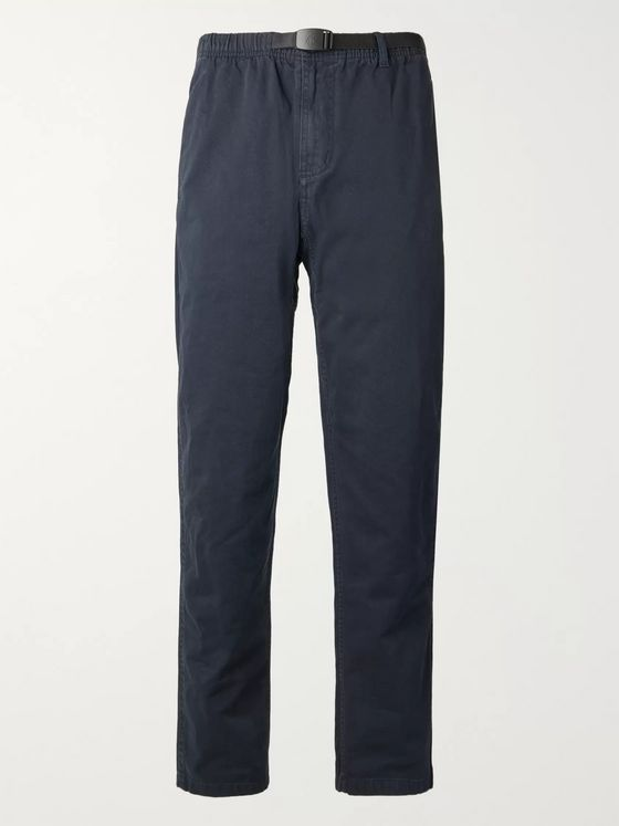Gramicci Belted Cotton-Blend Twill Trousers