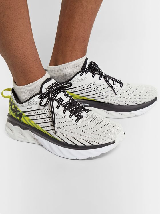 Hoka One One Arahi 4 Rubber-Trimmed Mesh Running Sneakers