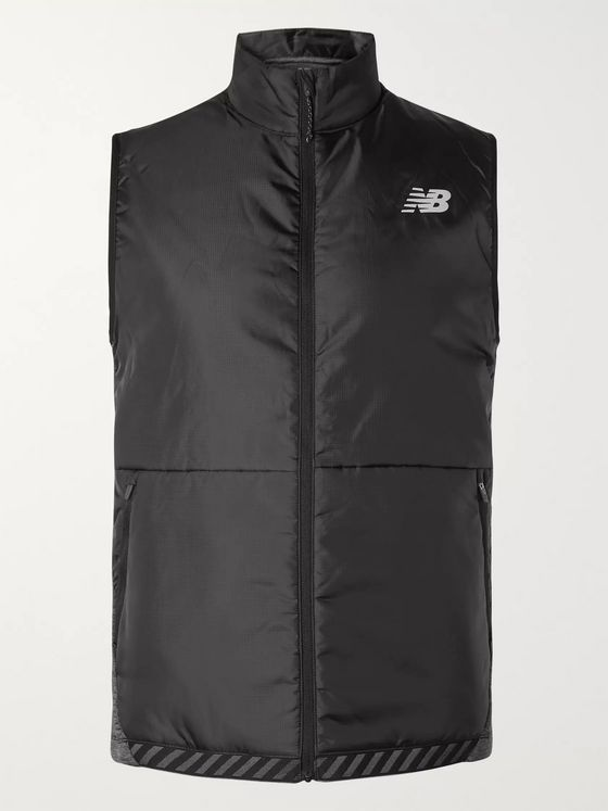 New Balance NB Heat Grid Ripstop and Mélange Stretch-Jersey PrimaLoft Gilet