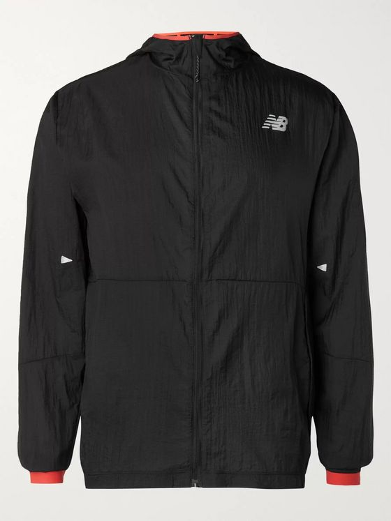New Balance Impact Run Nylon Hooded Running Jacket
