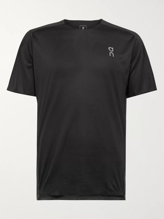 On Performance-T Stretch-Jersey and Mesh T-Shirt