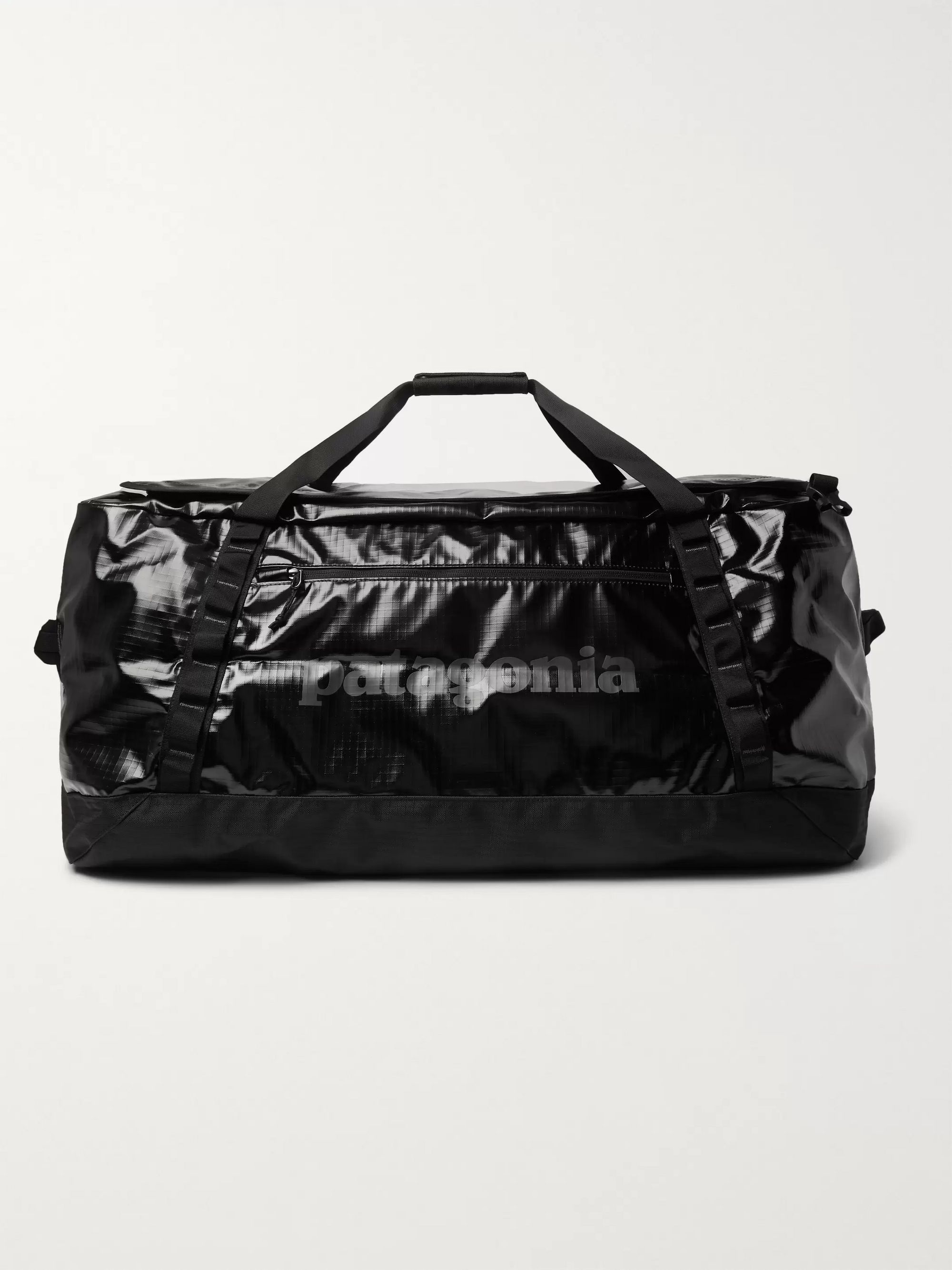 파타고니아 더플백 Patagonia Black Hole 100L Logo-Print Coated-Ripstop Duffle Bag,Black