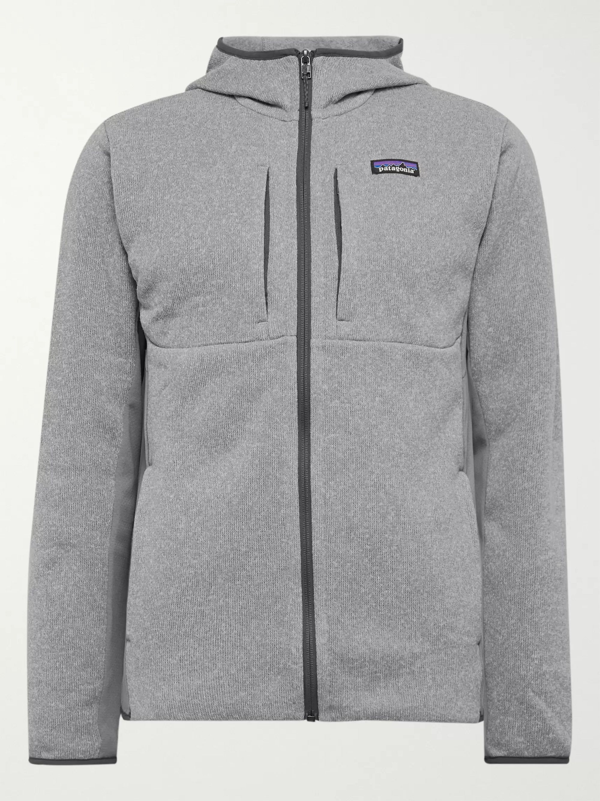 Patagonia Better Sweater Slim-Fit Panelled Fleece-Back Knitted Zip-Up Hoodie