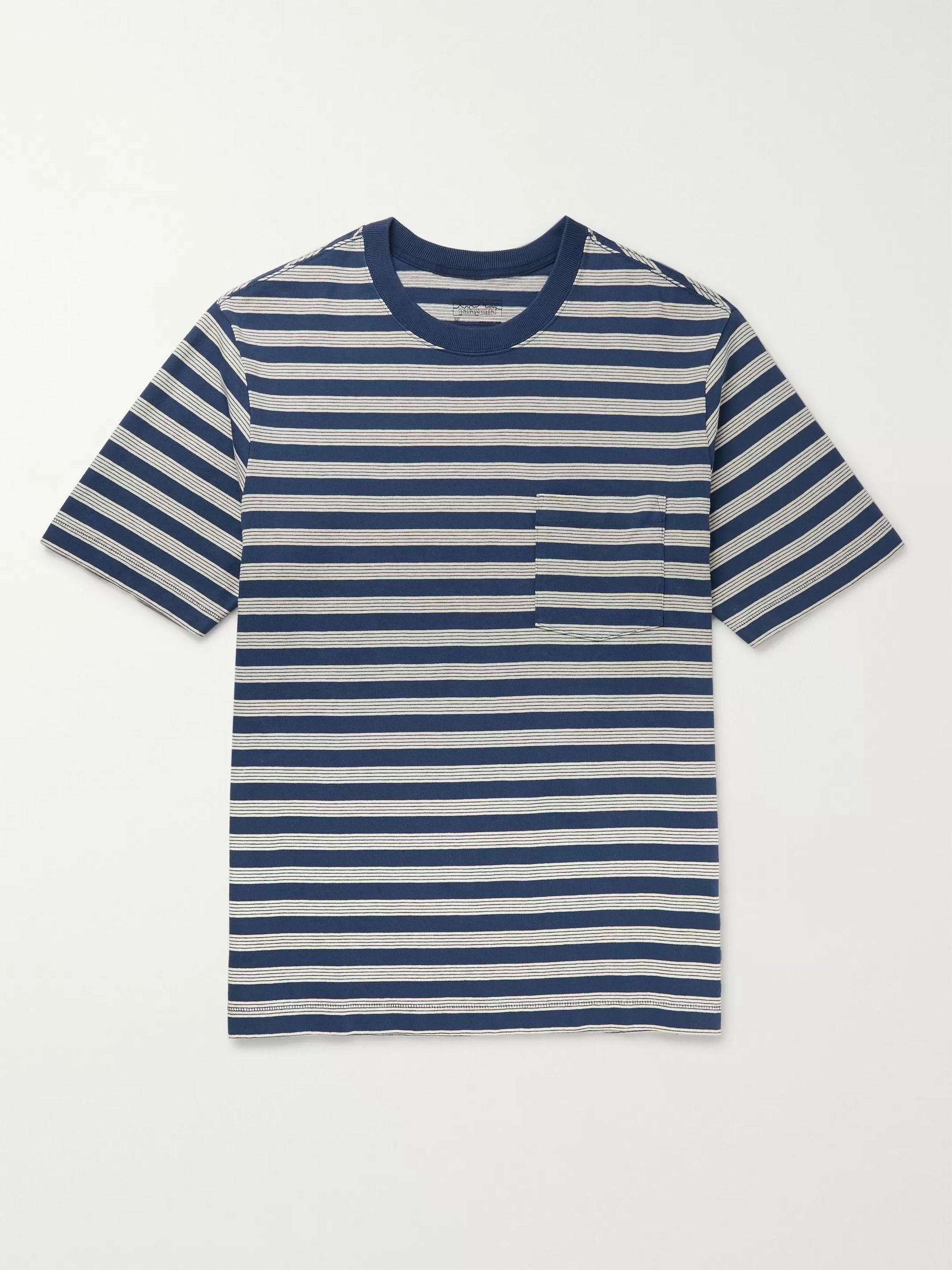 Patagonia Striped Organic Cotton-Jersey T-Shirt