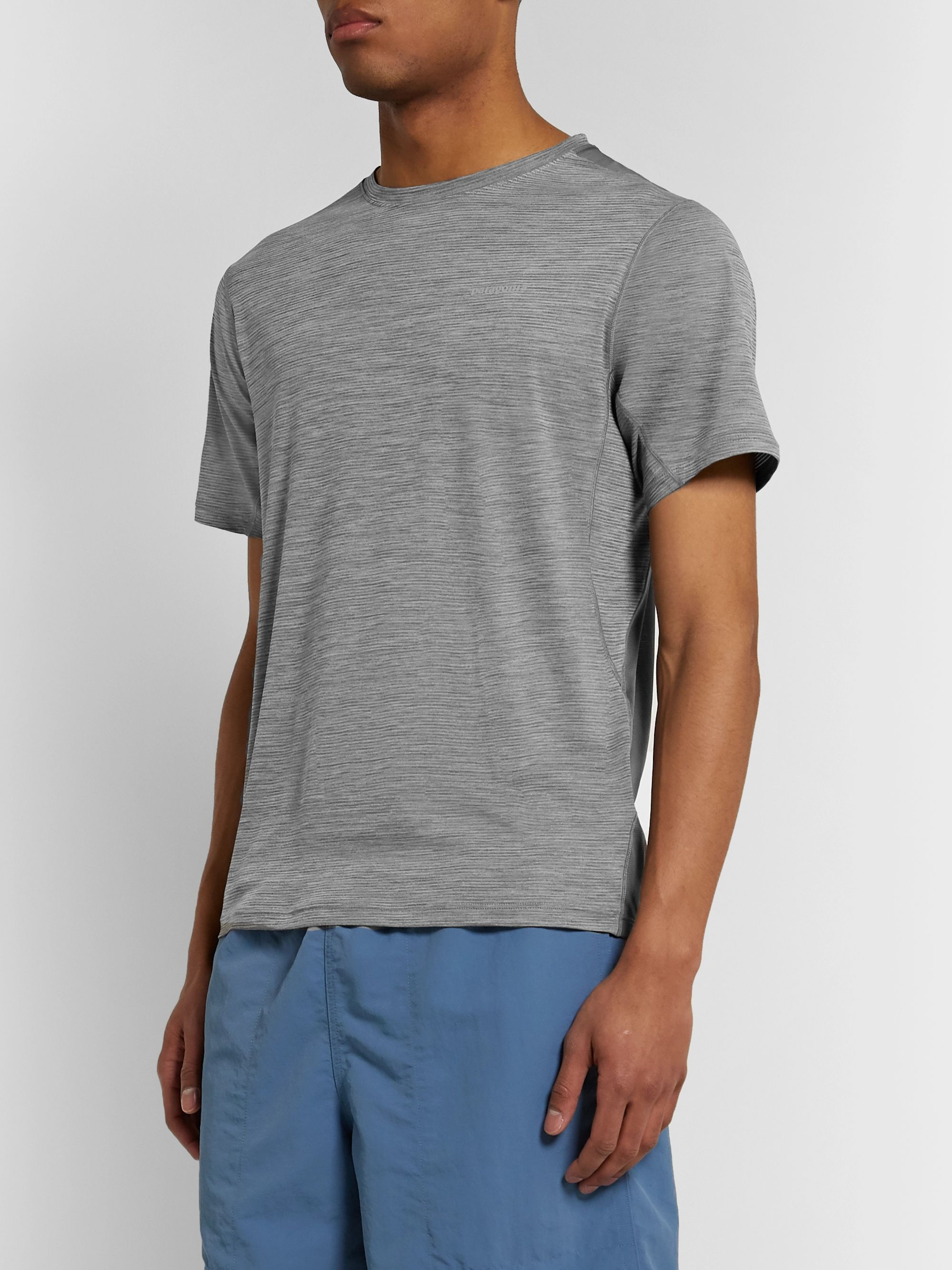 Patagonia Airchaser Slim-Fit Space-Dyed Capilene Cool Lightweight and Mesh Base Layer