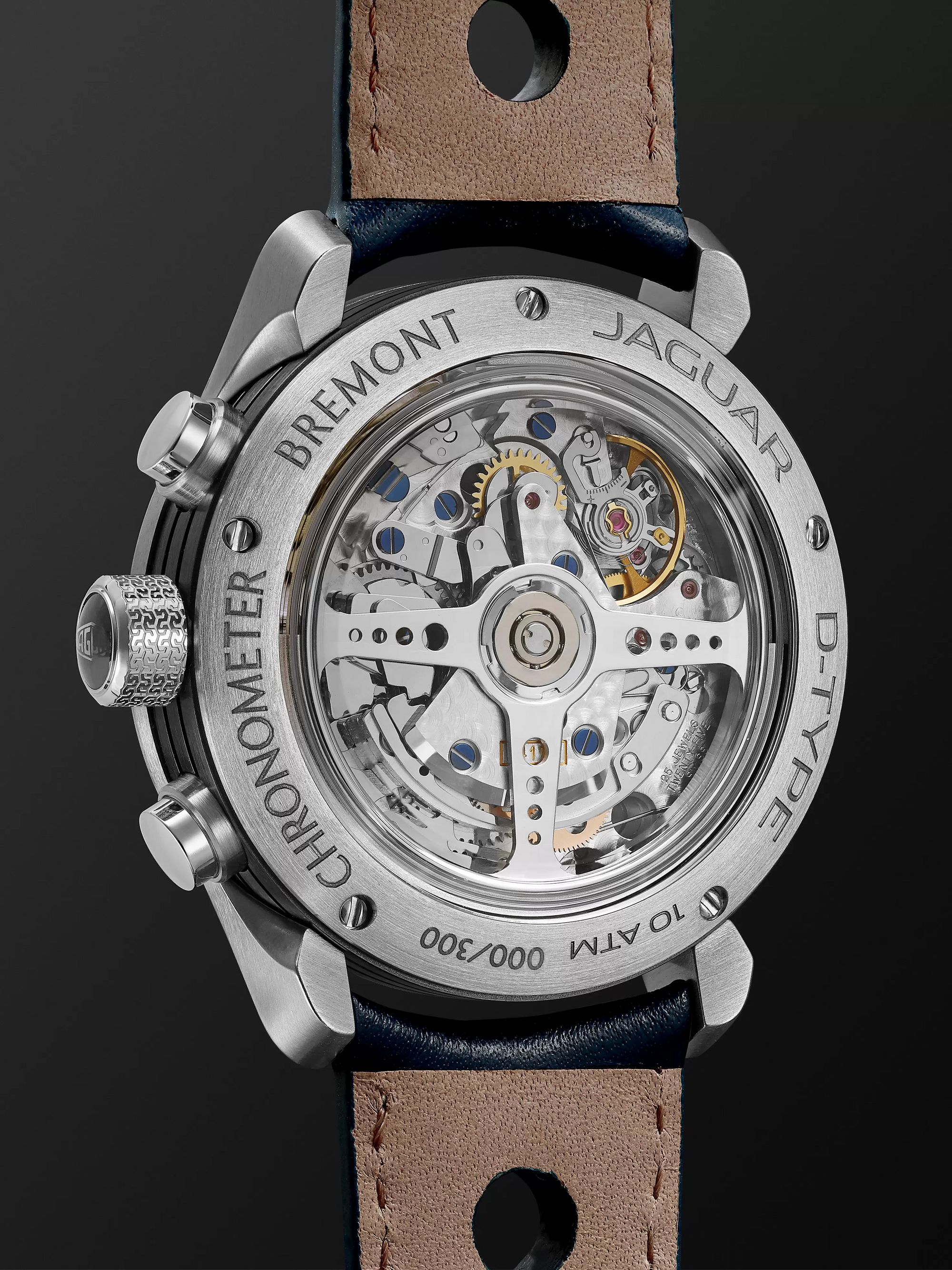 Bremont Limited Edition Jaguar D-Type Chronograph 43mm Stainless Steel and Leather Watch