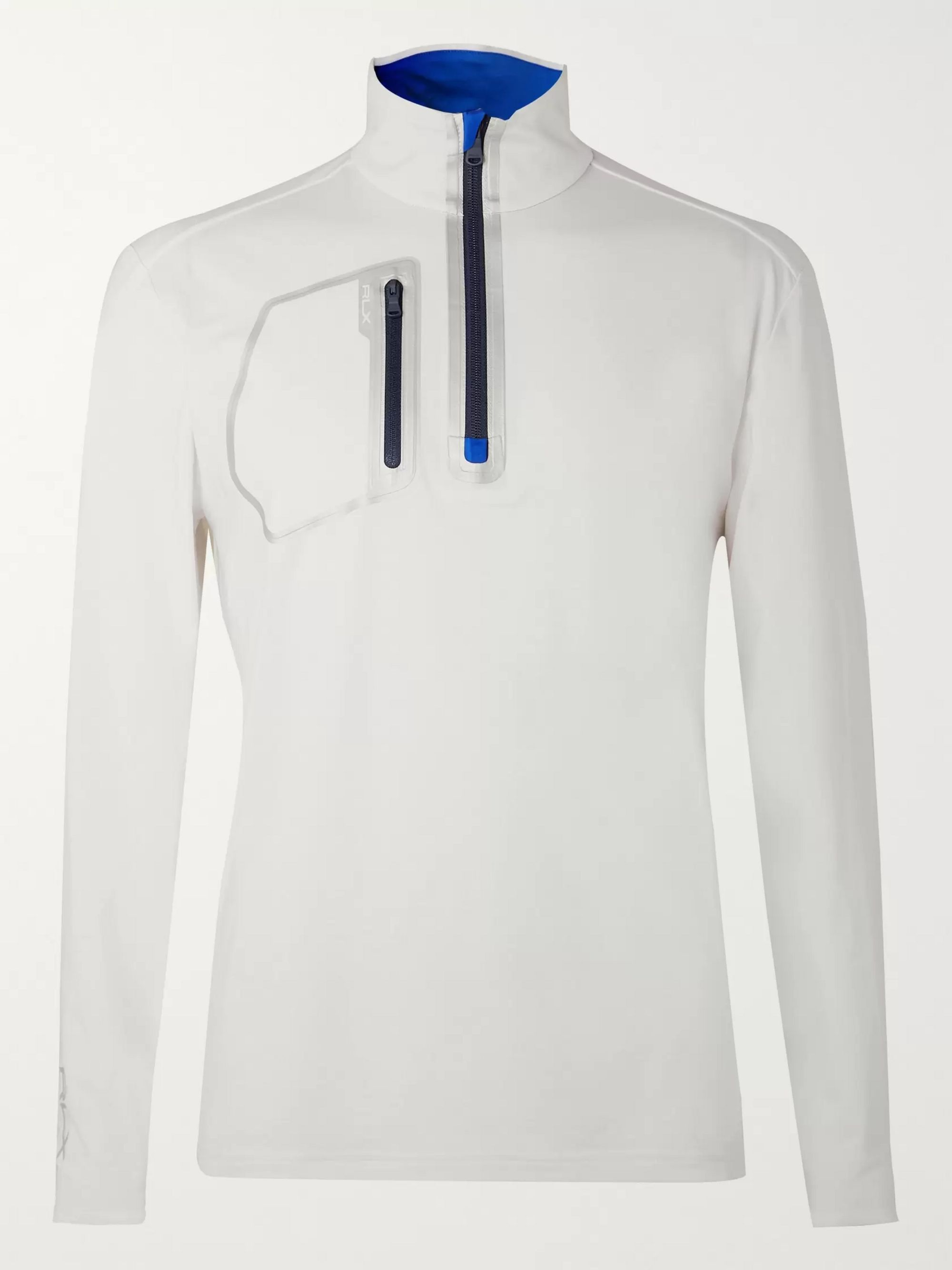RLX Ralph Lauren Slim-Fit Stretch-Jersey Half-Zip Golf Top