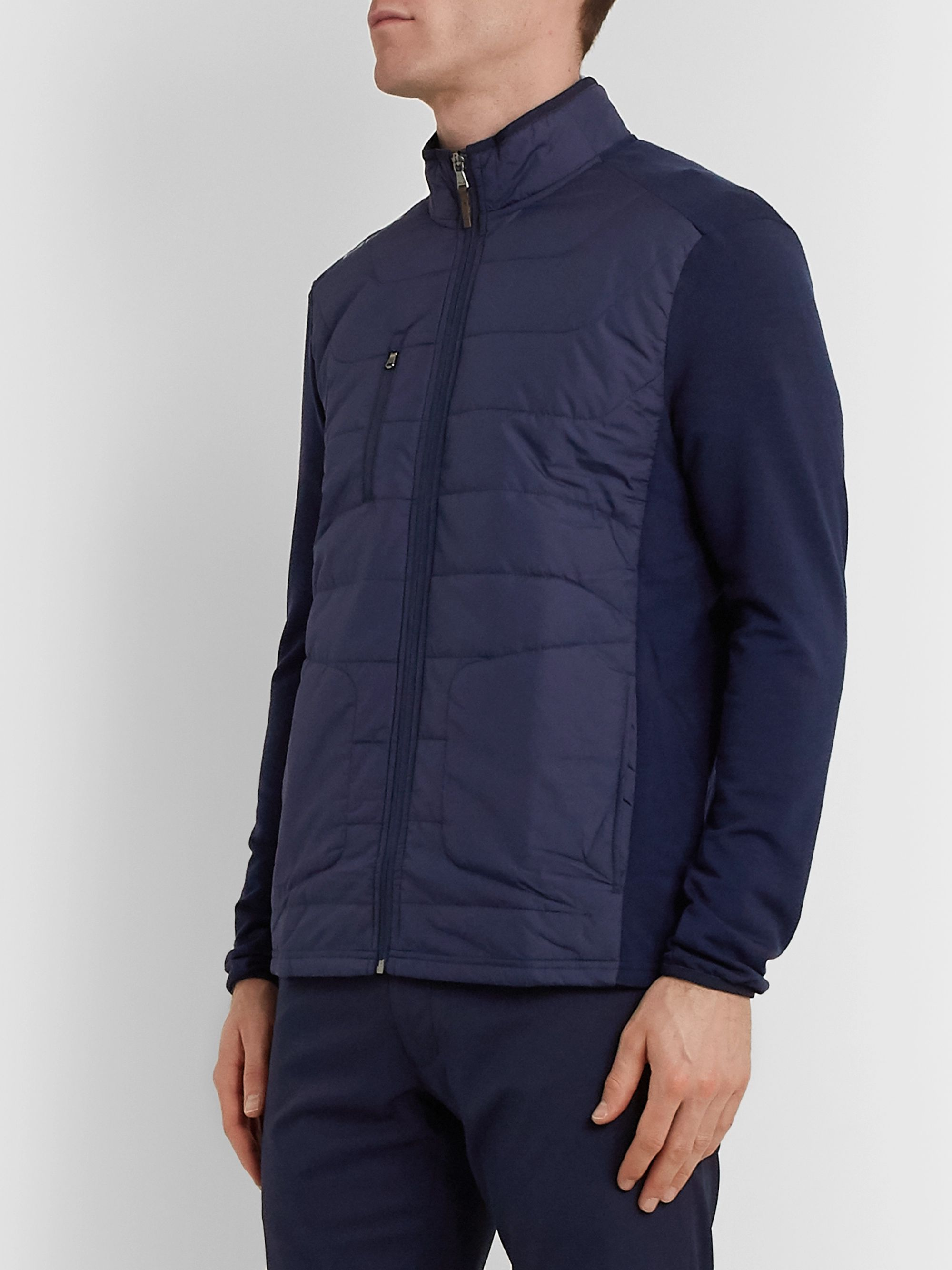 RLX Ralph Lauren Slim-Fit Quilted Shell-Panelled Terry Golf Jacket