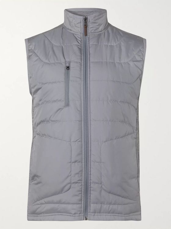 RLX Ralph Lauren Slim-Fit Quilted Shell and Mélange Wool-Blend Golf Gilet