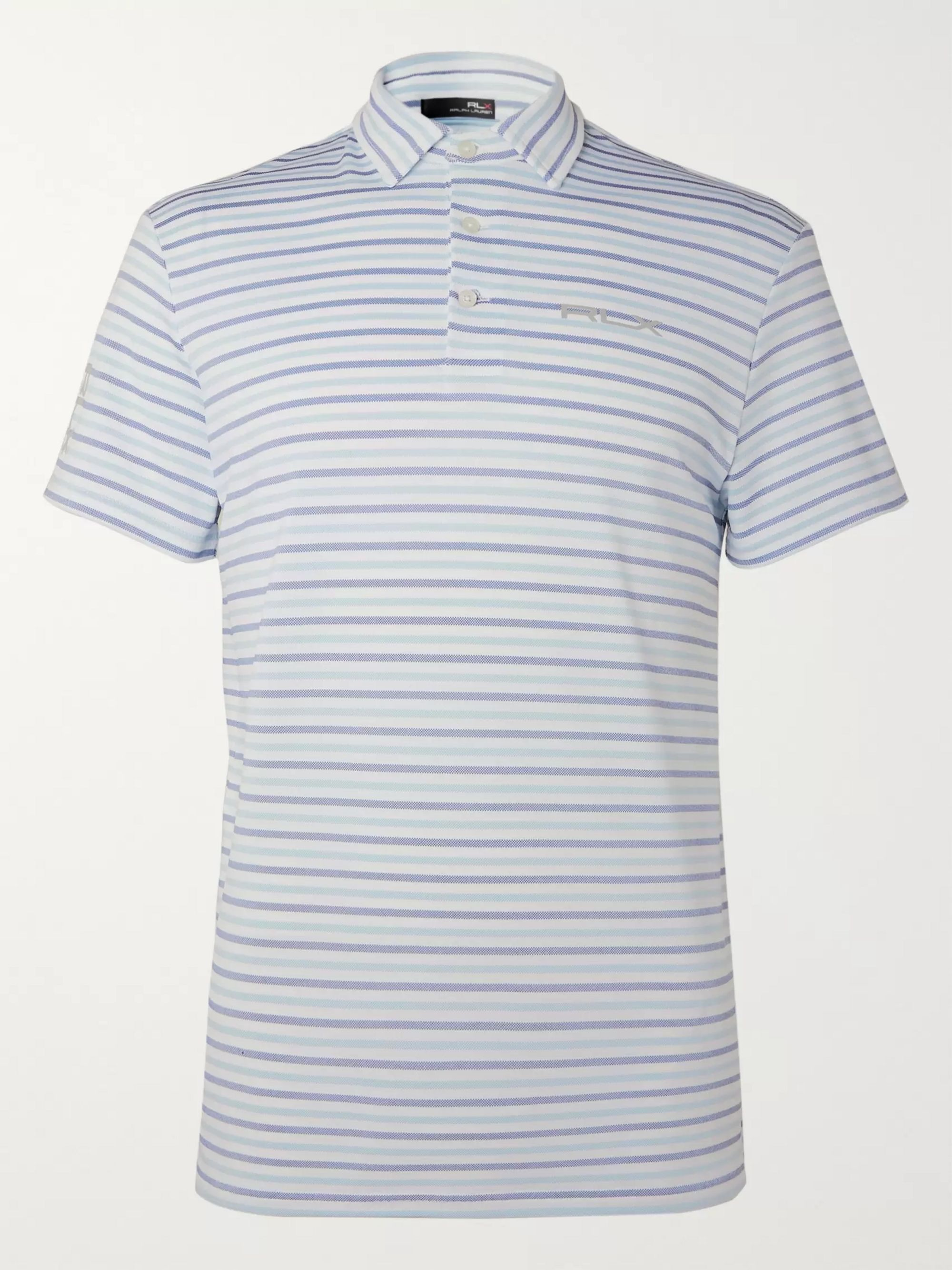 RLX Ralph Lauren Striped Stretch Tech-Piqué Golf Polo Shirt