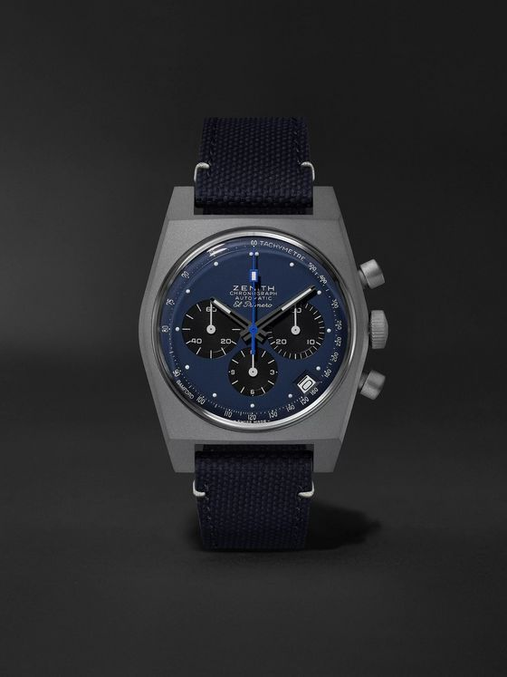 Zenith El Primero Revival A384 'Edge of Space' Limited Edition Automatic Chronograph 37mm Titanium and Rubber Watch, Ref. No. 97.A384.400/27.C821