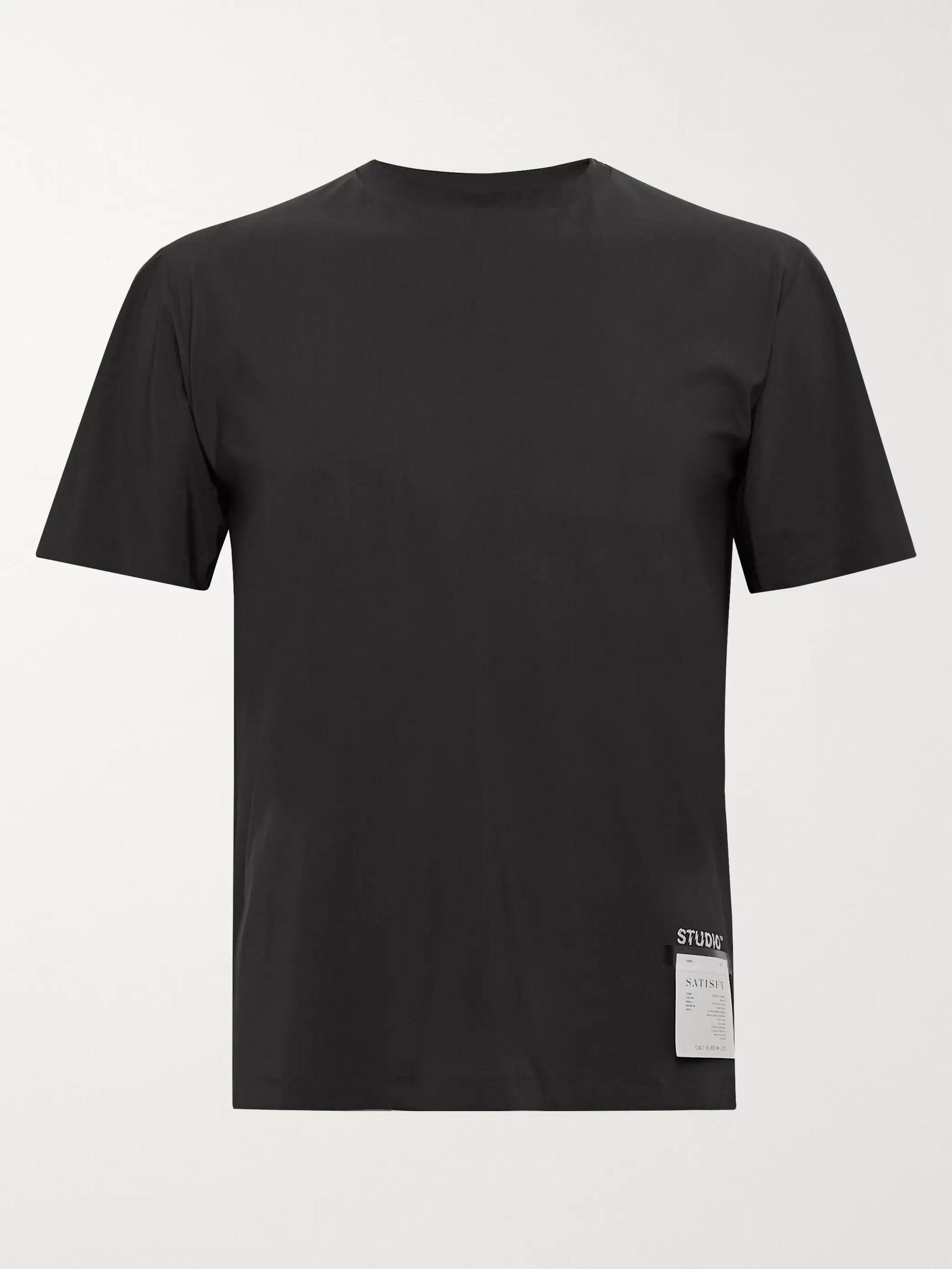 Black Studio Stretch-Jersey T-Shirt | Satisfy | MR PORTER