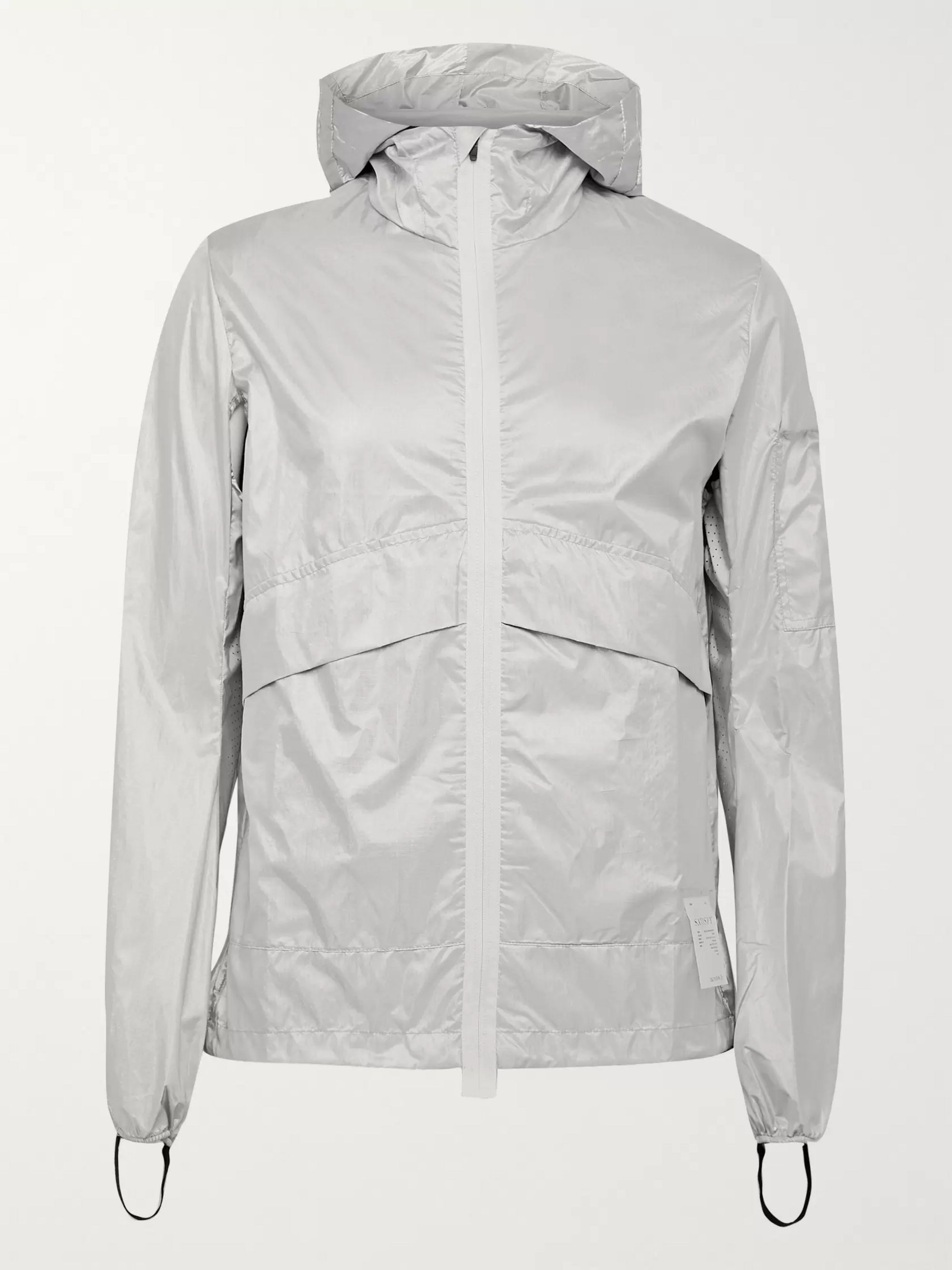Silver Packable Reflective Printed Ripstop Hooded Jacket | Satisfy | MR PORTER