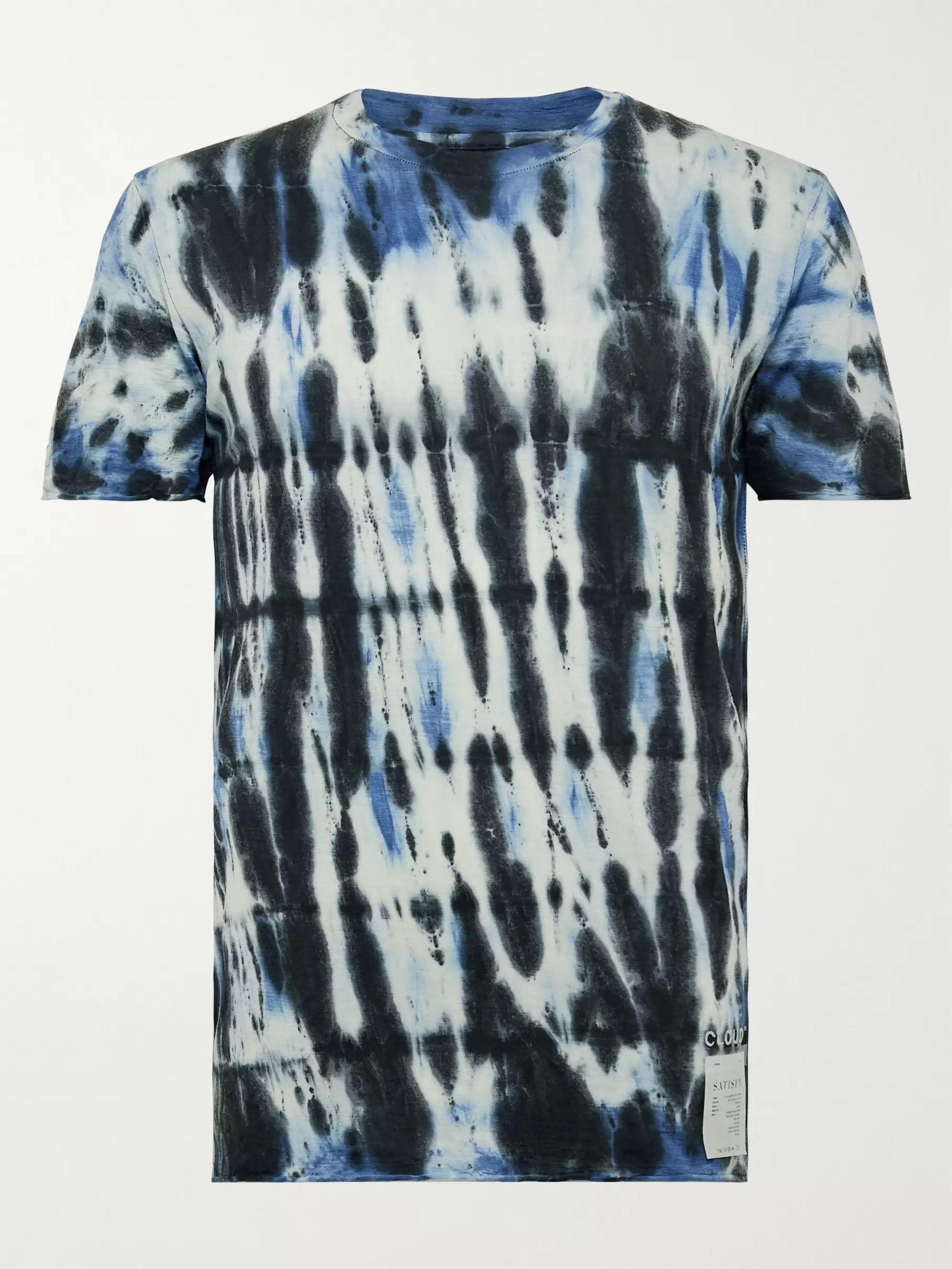Black Tie-Dyed Cloud Merino T-Shirt | Satisfy | MR PORTER