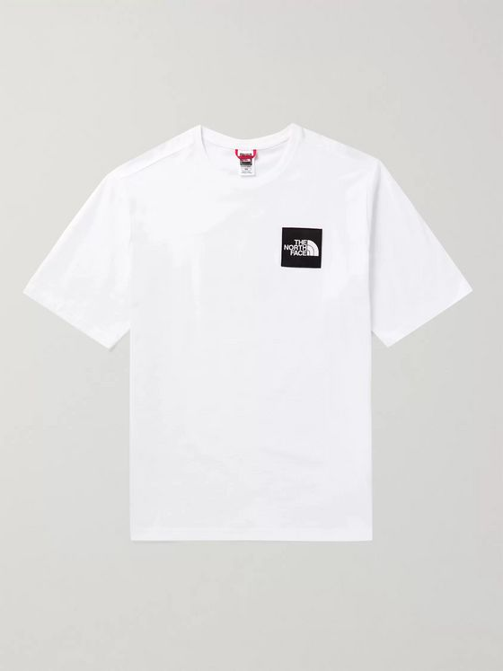 The North Face Logo-Appliquéd Printed Cotton-Jersey T-Shirt