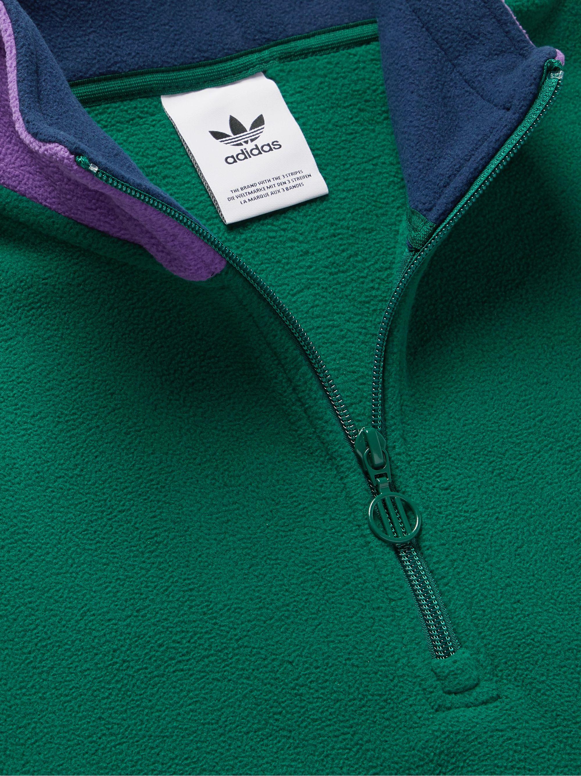 Samstag Logo Appliquéd Fleece Half Zip Sweatshirt