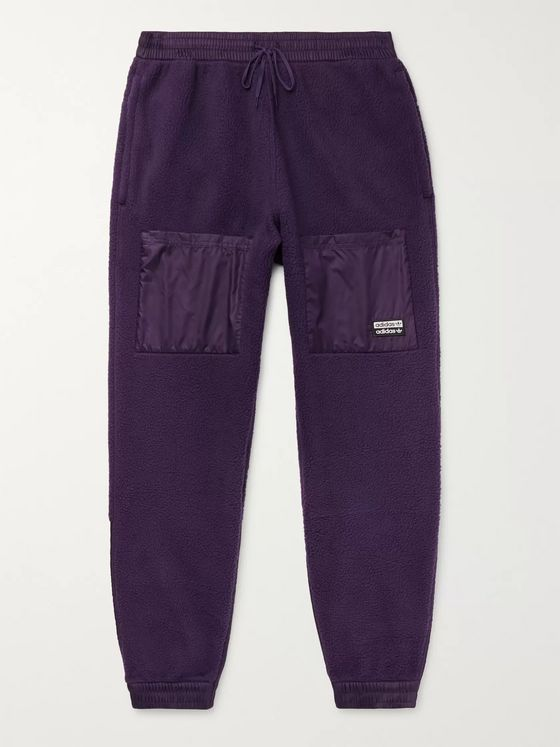 adidas Originals Vocal Shell-Panelled Fleece Sweatpants
