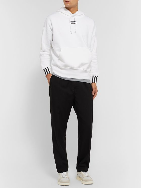 adidas Originals Logo-Appliquéd Fleece-Back Cotton-Jersey Hoodie