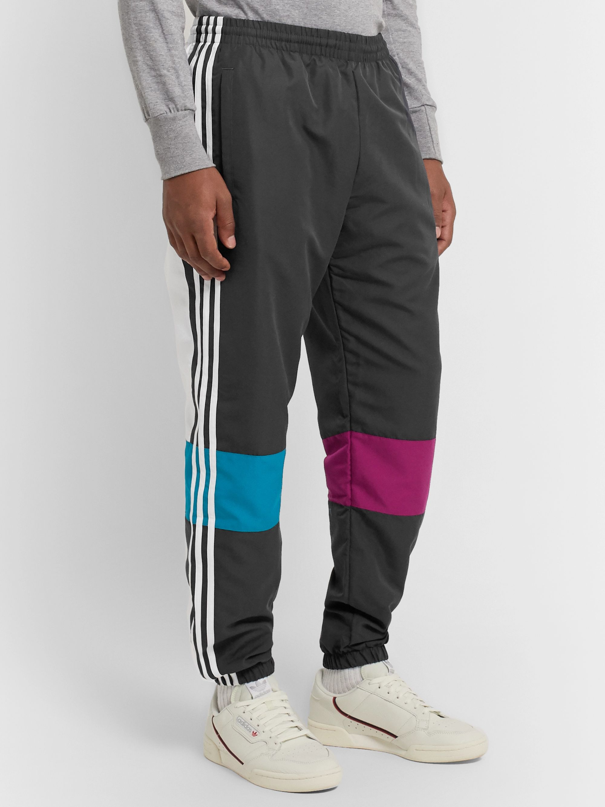 adidas Originals Tapered Colour-Block Shell Track Pants