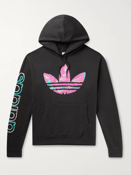 adidas Originals SPRT Logo-Print Fleece-Back Cotton-Blend Jersey Hoodie