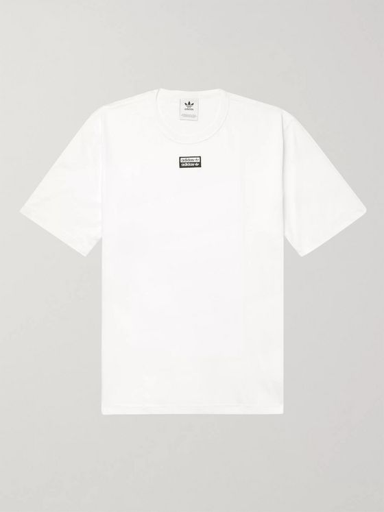 adidas Originals R.Y.V. Logo-Appliquéd Cotton-Jersey T-Shirt