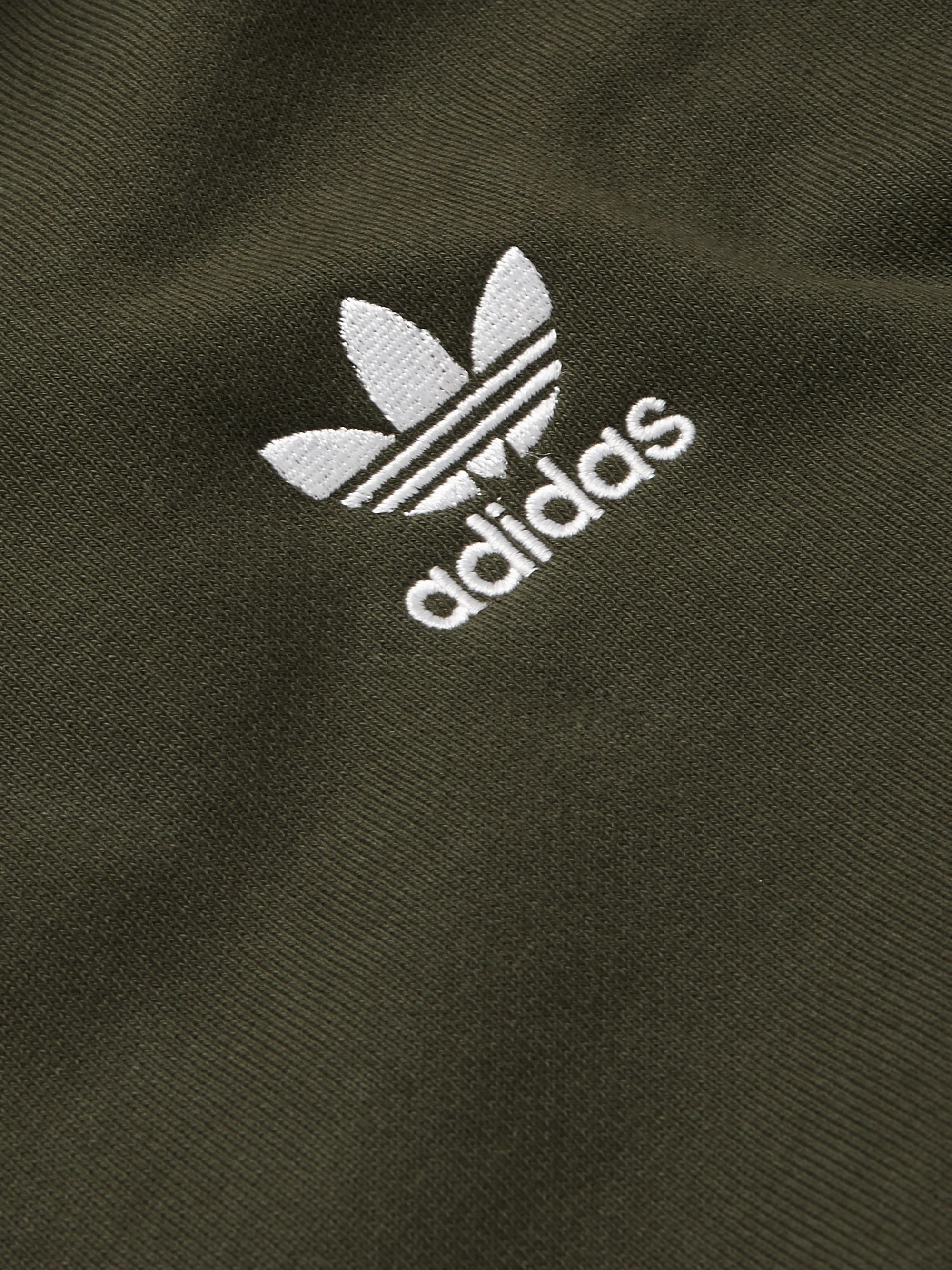 adidas Originals Logo-Embroidered Loopback Cotton-Jersey Hoodie