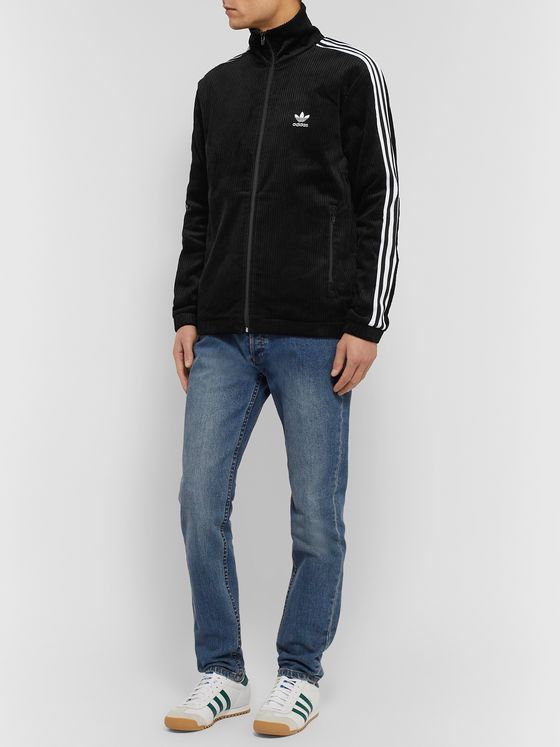 adidas Originals Striped Cotton-Corduroy Track Jacket