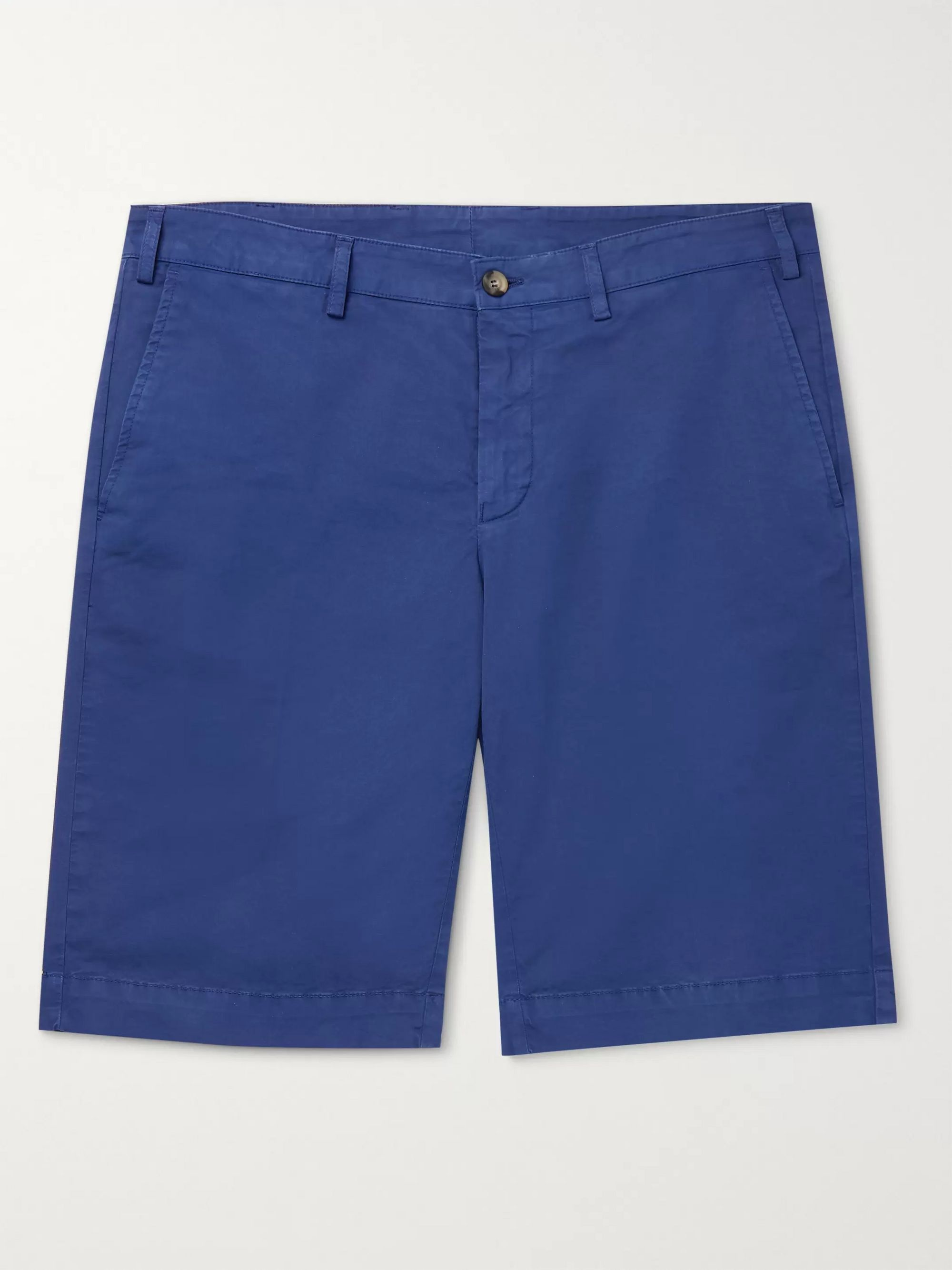 Canali Stretch-Cotton Twill Shorts