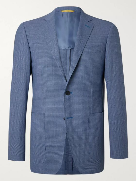 Canali Kei Slim-Fit Puppytooth Super 130s Wool Blazer