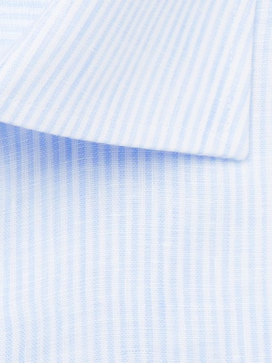Canali Striped Linen Shirt